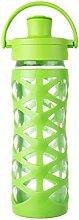 Lifefactory 16351 Glas-Trinkflasche mit Active