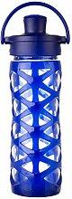 Lifefactory 16352 Glas-Trinkflasche mit Active