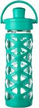 Lifefactory 16354 Glas-Trinkflasche mit Active