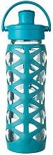 Lifefactory 16356 Glas-Trinkflasche mit Active
