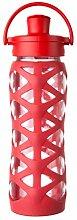 Lifefactory 16357 Glas-Trinkflasche mit Active