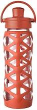 Lifefactory 16359 Glas-Trinkflasche mit Active