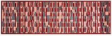 LifeStyle-Mat 150135 Läufer Rechtecke mit Rand, waschbar und rutschfest, Mikrofaser, 50 x 150 cm, bun
