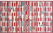 LifeStyle-Mat 150142 Fussmatte Rechtecke mit Rand, waschbar und rutschfest, Mikrofaser, 67 x 110 cm, bun