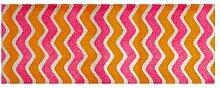 LifeStyle-Mat 200045 Zick Zack, rutschfester und waschbarer Läufer, ideal für die Garderobe, Küche oder Schlafzimmer, 67 x 170 cm, orange/rosa