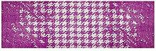 LifeStyle-Mat 200106 Chaos, rutschfester und waschbarer Läufer, ideal für die Garderobe, Küche oder Schlafzimmer, 50 x 150 cm, viole