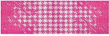 LifeStyle-Mat 200144 Chaos, rutschfester und waschbarer Läufer, ideal für die Garderobe, Küche oder Schlafzimmer, 50 x 150 cm, rosa