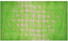LifeStyle-Mat 200199 Chaos, rutschfeste und waschbare Fußmatte, ideal für den Eingang, die Garderobe oder Küche, 67 x 110 cm, grün
