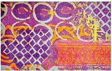 LifeStyle-Mat 200212 Alter Teppich, rutschfeste und waschbare Fußmatte, ideal für den Eingang, die Garderobe oder Küche, 50 x 75 cm, viole