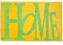 LifeStyle-Mat 200328 Home, rutschfeste und waschbare Fußmatte, ideal für den Eingang, die Garderobe oder Küche, 40 x 60 cm, gelb/grün