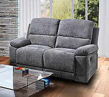 lifestyle4living 2 Sitzer Sofa in Grauer