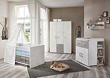 lifestyle4living Babyzimmer 4 Teile, Komplett-Set