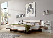 lifestyle4living Bett, Futonbett, Bettanlage,