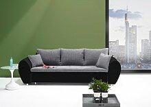 lifestyle4living Big Sofa mit Schlaffunktion und