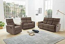 lifestyle4living Couchgarnitur in braunem