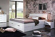 lifestyle4living Futonbett 180x200, Doppelbett mit