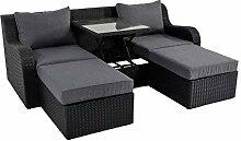 lifestyle4living Gartenbank 3 Sitzer aus