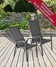 lifestyle4living Gartenstühle, Hochlehner,