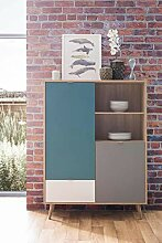lifestyle4living Highboard in Sonoma