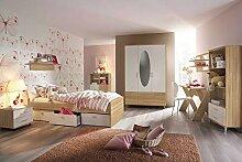 lifestyle4living Jugendzimmer, Kinderzimmer, Komplett-Set, Jugendmöbel, Kleiderschrank, Bett 90 x 200 cm, Nachtschrank, Kinderzimmer, Kindermöbel, 3-teilig, Mädchen