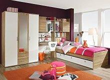 lifestyle4living Jugendzimmer Set, komplett, Mädchen, Jungen, Kleiderschrank, Schreibtisch-/Bettkastenschrank