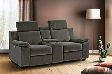lifestyle4living Kinosessel 2-Sitzer, Mikrofaser,