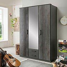 lifestyle4living Kleiderschrank mit Spiegel-Tür,
