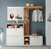 lifestyle4living Kompaktgarderobe, Garderobe, Set,