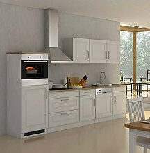 lifestyle4living Küche mit Elektrogeräten 300cm