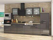 lifestyle4living Küche mit Elektrogeräten 340cm