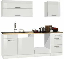 lifestyle4living Küche ohne Elektrogeräte 220cm