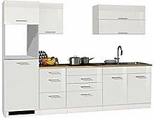 lifestyle4living Küche ohne Elektrogeräte 290cm