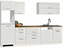 lifestyle4living Küche ohne Elektrogeräte 300cm
