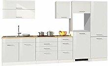 lifestyle4living Küche ohne Elektrogeräte 350cm