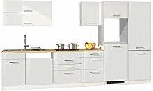lifestyle4living Küche ohne Elektrogeräte 360cm