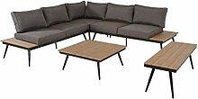lifestyle4living Lounge Gartenmöbel Set aus Alu.