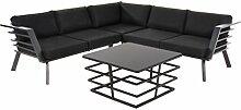lifestyle4living Lounge Gartenmöbel Set aus
