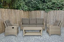 lifestyle4living Lounge Gartenmöbel Set aus