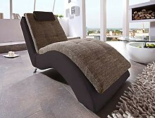 lifestyle4living Relaxliege in braun. Chaiselongue