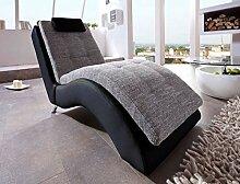 lifestyle4living Relaxliege in schwarz und grau.