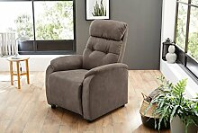 lifestyle4living Relaxsessel in Braun,