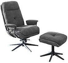 lifestyle4living Relaxsessel mit Hocker in