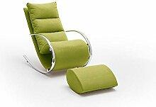 lifestyle4living Relaxsessel mit Hocker in grün,