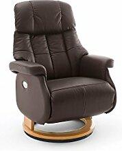 lifestyle4living Relaxsessel, Sessel, Fernsehsessel, Ledersessel, TV-Sessel, Loungesessel, Lesesessel, Funktionssessel, braun, natur, elektrisch, Motor, Akku