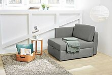 lifestyle4living Sessel in grauem