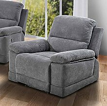 lifestyle4living Sessel in Grauer Microfaser