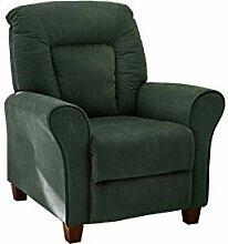 lifestyle4living Sessel in grünem Cordstoff