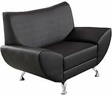 lifestyle4living Sessel in Kunstleder schwarz, mit