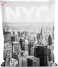 lifestyle4living Sitzsack Big Bag NYC in schwarz