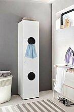 lifestyle4living Wäscheschrank in weiß mit 2